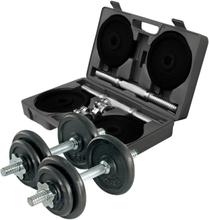 Adjustable dumbbell set, 2x10 kg