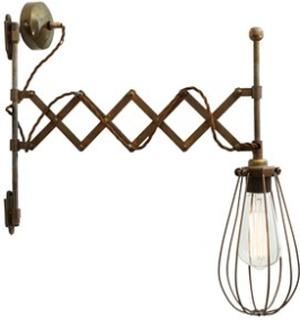 Mullan Lighting Calis scissor arm vägglampa - Polished brass