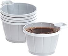 Kaffekopp plast 21 cl silver/vit, 50 st 7322540199536 Replace: N/A Kaffekopp plast 21 cl silver/vit, 50 st