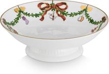 Royal Copenhagen - Starflutet Christmas Bowl On Foot 18 cm