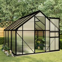 vidaXL drivhus med bundstel 4,75 m² aluminium antracitgrå