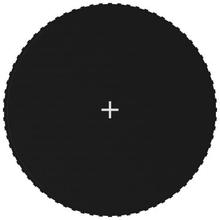vidaXL Matta till 3,96 m rund studsmatta svart