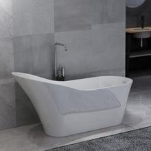 vidaXL Fristående badkar vit akryl 210 L