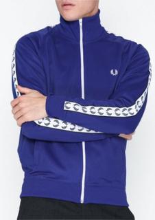 Fred Perry Taped Track Jacket Trøjer Blå