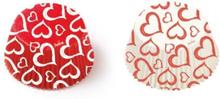 Hjärta Röda Vita Muffinsformar 36st - Decora