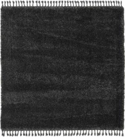 Boho - Charcoal matta 200x200 Modern, Kvadratisk Matta