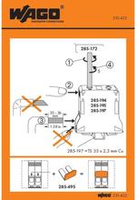 WAGO 210-422 Handhavandeklistermärke 100 st