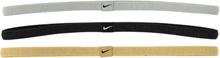 Nike Elastic Hairbands 3pk Träningstillbehör METALLIC SILVER/BL