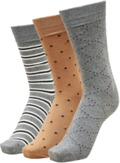 SELECTED 3-pakning - Sokker Men Grey