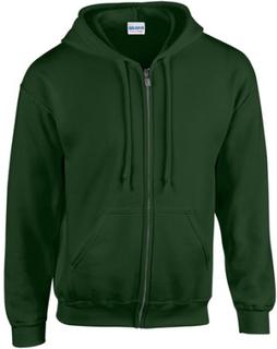 Gildan Heavy Blend Unisex Vuxen Full Zip Hooded Sweatshirt Topp