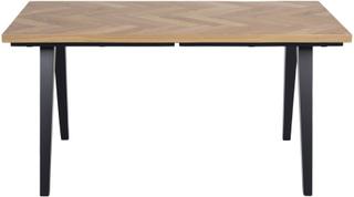 Morgantown - Sildebensbord egetræ olieret 150/240 cm - Forberedt til tillægsplader
