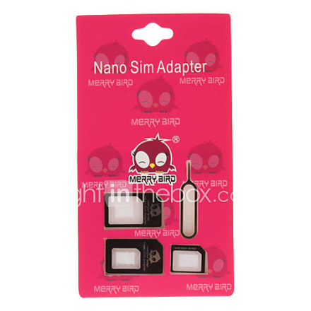 3-in-one Universal Nano Micro ja Standard Sim-kortti adapteri Micro SIM-kortin normaalia Adapter