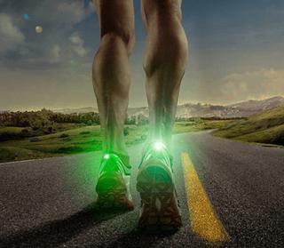 LED-lygte til løb (Farve: Hvid)