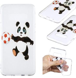 Samsung Galaxy S10e Mønstet Etui - Panda Som Leker Med En Ball