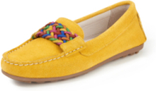 Loafers i kalvmocka från Peter Hahn gul