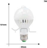 Sensor lampa e27 7w