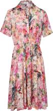 Klänning kort ärm och skjortkrage från mayfair by Peter Hahn mångfärgad