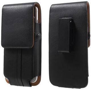 Kortshållare Läderpåsehölster för iPhone 7 / Sony Z5 Compact, Storlek: 140 x 70 x 11mm