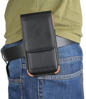 För iPhone 7 4.7 vertikalt flip läderfodral kortshållare hölster med bältesklämma