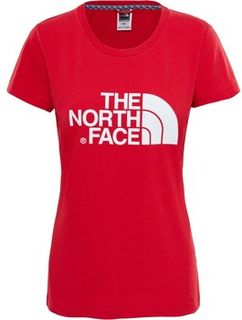 The North Face T-shirts med korta ärmar W S/S EASY TEE - RED The North Face