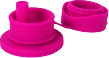 Pura Kiki - BigMouth™ Sportaufsatz mit Strohalm aus Silikon - Pink