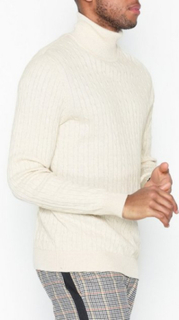 Selected Homme Slhclayton Roll Neck W Gensere Lys brun