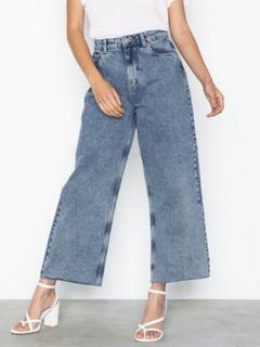 Vero Moda Vmkathy Hr Wide Cropped Jeans Boo Straight