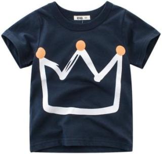 Baby drenge skjorter - sommer børn tegneserie t-shirt til drenge korte ærmer drenge bomuld skjorter - ts9111 / 2t