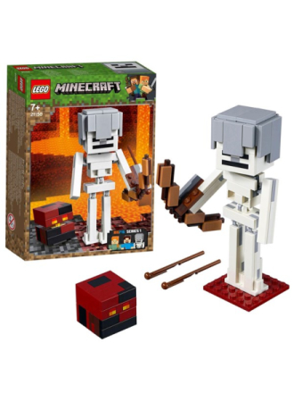 Minecraft 21150 Minecraft™ stor skeletfigur med magmakubus - Proshop