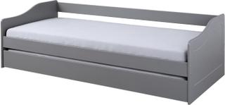 Malsu seng 90x200 cm med 1 udtræks seng grå.
