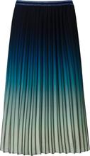 Plissérok in midi-lengte Van Basler blauw