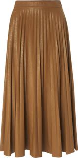 Plisserad kjol i midilängd från Marella brun