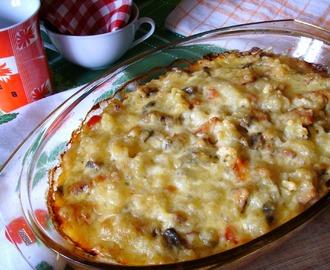 recipe: zapiekanka makaronowa z mięsem mielonym i pieczarkami [1]