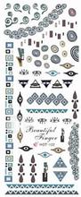 2PCS Blue Totem design Nail Art Watermark Tarrat HOT-122
