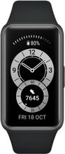 Huawei Band 6 Sort Silikone Strap Graphite Black