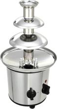 vidaXL Chokladfontän rostfritt stål silver 250 W