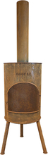 BONFEU Bonton 60 R udepejs - rust stål, inkl. grillrist (H:195 cm)