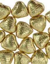 20 stk Gullfarget Sjokoladehjerter