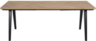 Morgantown - Sildebensbord i lakeret egetræ 200/290 cm - Forberedt til