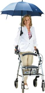 Paraply til rullator/rullestol Rehaforum blå