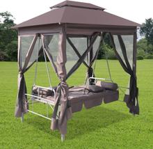 vidaXL Paviljong med hammock kaffe