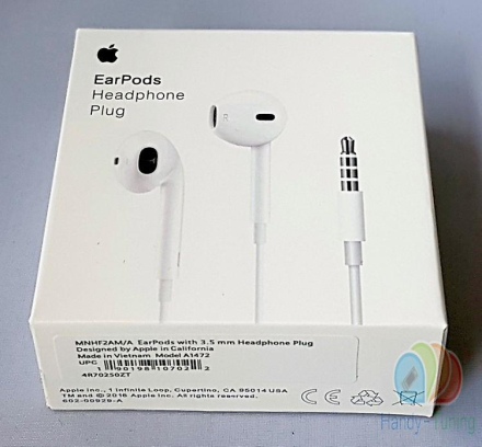 Opprinnelige blemme Apple MD827, MNHF2ZM/A EarPods Headset hodetele...