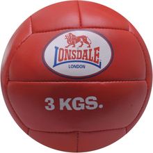 LONSDALE Medicinboll 3 kg läder röd