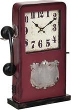 [en.casa]® Pöytäkello puhelinkoppi - analoginen - 33x9x40,5 cm - monivärinen - lasia