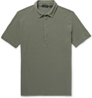 Slim-fit Cotton-piqué Polo Shirt - Army green