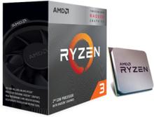 Ryzen 3 3200G Wraith Spire CPU - 4 kerner 3.6 GHz - AM4 - Boxed (PIB - med køler)