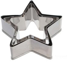 3 st stjärnformade Kakmått.