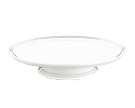 Pillivuyt Tårtfat på fot vit, Ø 30 cm