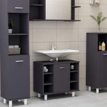 vidaXL badeværelsesskab 60x32x53,5 cm spånplade grå