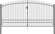 Dobbel hageport med spydhoder - 400x248 cm